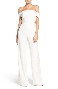 Jay Godfrey Brin Off the Shoulder Jumpsuit available at #Nordstrom