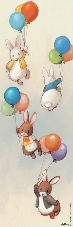 Flying Bunnies (Delphine Doreau)