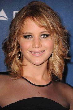 Jennifer Lawrence Long Wavy Bob Hairstyle