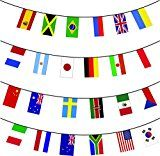 MEGA VALUE 24 x Participating Brazil Rio Nations Premium Quality Bunting Flags - Huge 10m Multi Nation Party Decoration Banner - My Swift Exclusive by My Planet  (1)Buy new:   £5.92 2 used & new from £5.92(Visit the Bestsellers in Toys & Games list for authoritative information on this product's current rank.) Amazon.co.uk: Bestsellers in Toys & Games... Check more at...