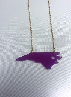 ECU Necklace Heart over Greenville North by KellyAndPavelDesign