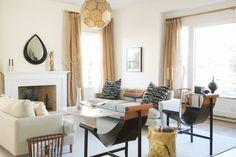 Living Room Design by Celebrity Designer Tamara Honey-inviting, not fancy. #OnlineInteriorDesign