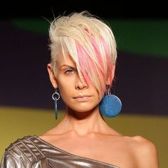 I love this cut and color, but I would do it in a dark red pallette
