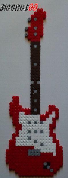 Electric Guitar Perler beads hama by Sidorus00 H= 27 cm L= 9 cm