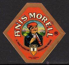 Etiqueta ANIS MORELL de Sant Fruitós del Bages, Manresa - fundada el 1840.