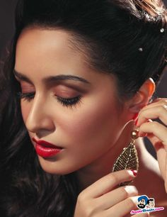 Want similar red color lipstick that Shraddha Kapoor is wearing - 22183 - SeenIt Bollywood Girls, Indian Bollywood, Bollywood Stars, Bollywood Fashion, Bollywood Heroine, Bollywood Masala, Hijab Fashion, Prettiest Actresses, Beautiful Actresses