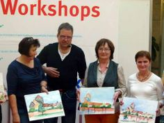 Aquarellworkshops von Frank Koebsch im KTC | Teilnehmerinnen an dem Aquarellkurs Stadtansichten von Rostock mit Frank Koebsch