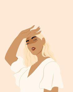Woman Illustration, Portrait Illustration, Graphic Design Illustration, Graphic Art, Vector Portrait, Minimalist Art, Aesthetic Art, Female Art, Art Sketches