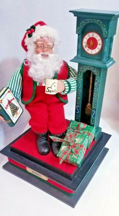 Animated /& Musical Mrs Claus In Rocking Chair Collectible Christmas Decoration