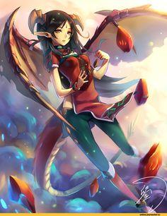 Anime,аниме,Tales of Symphonia,Monster Girl,Monster Girls,Anime Original,AO,Dragon Girl,Anime Art,Аниме арт, Аниме-арт