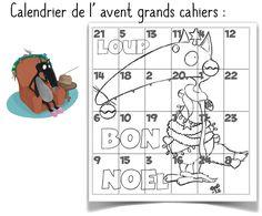 Calendrier de l'avent Loup Petite Section, Diy And Crafts, Preschool, Education, Art, Kenzo, Albums, Christmas Ideas, Winter Time