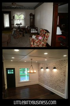 Dining room Feng Shui Dos and don'ts Faux Brick Panels, Brick Paneling, Exposed Brick Walls, Dining Lighting, Wall Lighting, Home Renovation, Home Remodeling, Clay Houses, Wall Wood