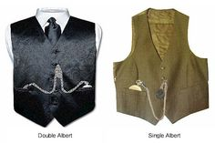 How to wear both a single and a double Albert Chain. From Pocketwatch Central