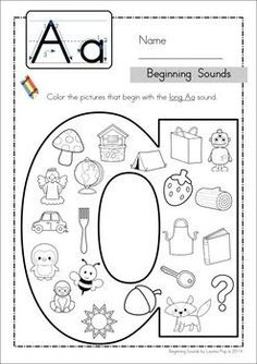Beginning Sounds - Color It! (lowercase version) Beginning Sounds - Color It! (lowercase version) Original article and pictures take htt. Preschool Letters, Kindergarten Literacy, Learning Letters, Preschool Learning, Alphabet Activities, Literacy Activities, Teaching Resources, Alphabet Worksheets, Jolly Phonics