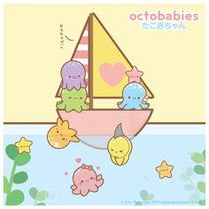 Octobabies-Boat by Oborochann.deviantart.com on @deviantART #Kawaii #Draw #Illustration