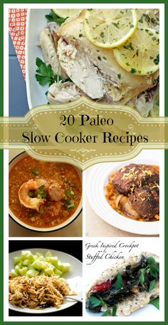 Paleo Menu: 20 Crockpot Recipes
