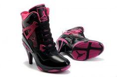 5b0d7bd7f4d Detachable cowl Nike Air Jordan 4 Heels Black White Red For Women-are jordan  high heels real