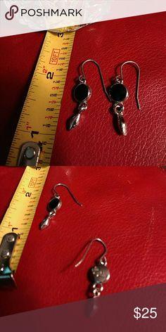 Dangle earrings Lia Sophia Black and Silver earrings - not worn Lia Sophia Jewelry Earrings