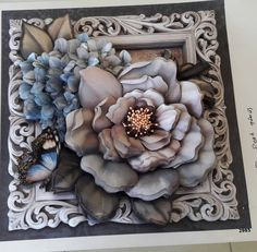 Rölyef Decoupage Paper, Paper Quilling, 3d Paper Art, Paper Crafts, Different Forms Of Art, Sculpture Painting, Felt Flowers, Watercolor And Ink, Flower Crafts