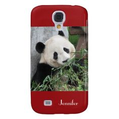 "Samsung Galaxy S4 Case, Giant Panda Red - This case for the Samsung Galaxy S4 is part of our ""Giant Pandas"" collection, which includes other gifts, greeting cards, and wrapping paper. What a wonderful complement for a new phone. Wonderful gift for panda lovers. See more at www.zazzle.com/SocolikCardShop*. Original photograph by Marcia Socolik, taken in Chengdu, China. All Rights Reserved © 2013 Alan & Marcia Socolik.  #ILovePandas #PandaLovers #GiantPandas"