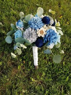 Excited to share this item from my shop: Navy blue bouquet, sky blue bouquet, sola wood flower bouquet, boho bouquet, wood bouquet Wood Flower Bouquet, Sola Wood Flowers, Rustic Bouquet, Blue Flowers, Pinecone Centerpiece, Navy Bouquet, Wedding In The Woods, Wedding Flowers, Wedding Bouquet