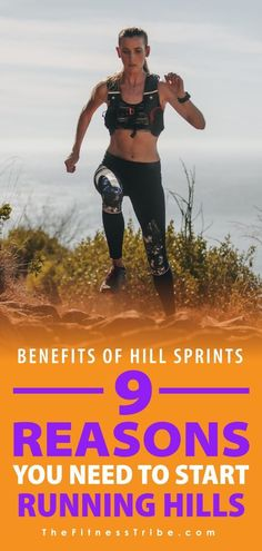 9 Reasons You Need To Start Running Hills. Running hills is hard, that's why most people don't do it. But doing short hill sprints can have some serious benefits for athletic performance and overall endurance. - The Fitness Tribe Interval Running, Running Workouts, Running Training, Interval Workouts, Training Tips, Strength Training, Running For Beginners, How To Start Running, How To Run Faster
