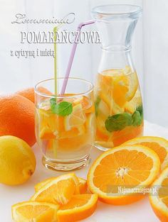 Lemoniada pomarańczowa Homemade Protein Shakes, Easy Protein Shakes, Protein Shake Recipes, Healthy Recipes, Smoothie Drinks, Fruit Smoothies, Weight Loss Smoothies, Summer Drinks, Junk Food