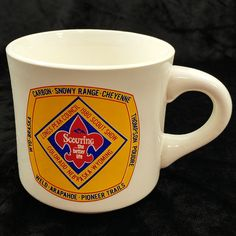 Longs Peak Council 1980 Boy Scout Show Coffee Cup Colorado Nebraska Wyoming #Unbranded