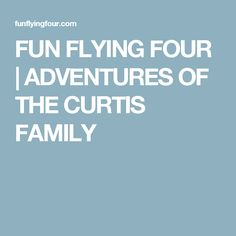 FUN FLYING FOUR   ADVENTURES OF THE CURTIS FAMILY