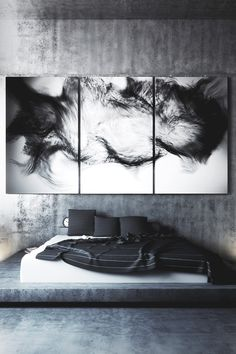 Masculine bedroom decor is truly inspiring, especially the wall art choice… Home Bedroom, Bedroom Decor, Master Bedroom, Bedroom Boys, Bedroom Interiors, Bedroom Lamps, Modern Interiors, Bedroom Lighting, Design Bedroom