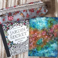 Postcard Art Brusho Artwork Artist Painting Coloring Books Watercolor Johanna Basford Secret Garden Book Pencil