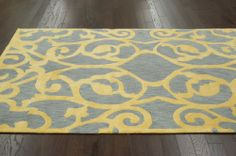 Rugs USA Elegance Nevna Cotton Grey Rug | Contemporary Rugs  Modern, yellow, home decor, interior design, style, home, house, decor, area rugs, modern, contemporary, pattern.