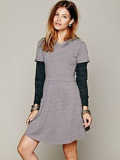 Free People Be True Hoodie Dress $88