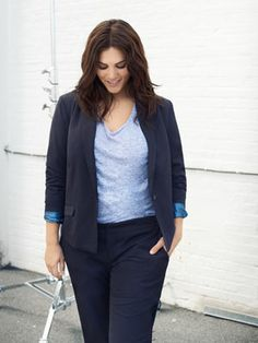 Classy and cool look from JUNAROSE. #junarose #blue #fashion #plussize #elegant