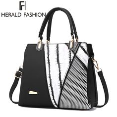 00f8f1a6c19f  42.62 - Nice Herald Fasion Women Brand New Design Handbag Black And White  Stripe Tote Bag
