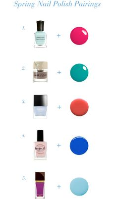 Spring Nail Polish Pairings // via South by Northwest