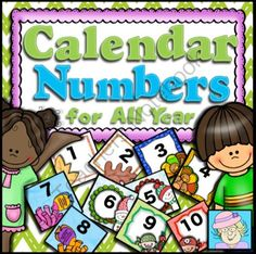Calendar Numbers for All Year!   from TeacherTam on TeachersNotebook.com -  - This product contains 15 sets of calendar numbers to use throughout the year.  Each set of colorful number cards also has a pattern.  There are sets for the seasons, Christmas, St. Patrick's Day, Valentine's Day, some for common themes, and more