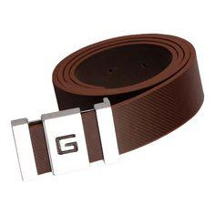 Stylehoops Brown Frame G Buckle Belt #bucklebelt #brownbelt #beltformen #mensbelt