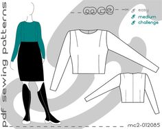 Plus Size PDF Sewing Patterns for Women Classic Close-Fit Bodice Set-in Sleeve…