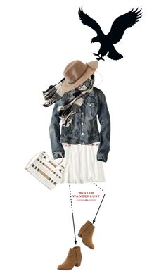 """""""Winter Wanderlust with American Eagle: Contest Entry"""" by meyli-meyli ❤ liked on Polyvore featuring American Eagle Outfitters, Burberry and aeostyle"""