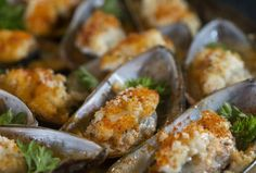 Grilled New Zealand Greenshell Mussels