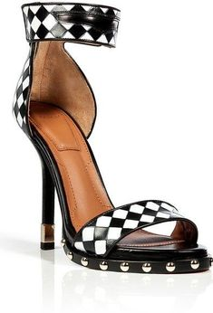 Givenchy Blackwhite Woven Leather Sandal ♥✤ | Keep the Glamour | BeStayBeautiful