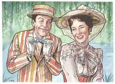 One of my favorite movies. Practically Perfect in EVERY way!Really enjoyed painting this one. I love Mary and Bert!Painting is 9x12 inches on Strathmore Watercolor paper.Done in inks and watercolors.You can see more of my work here…http://www.etsy.com/shop/ScottChristianSavaand here…http://ssava.tumblr.com/ThanksScott
