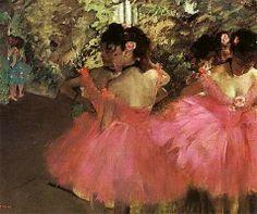 Danseuses en rose, par Édgar Degas