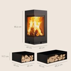 Skantherm's Elements is not only a wood burning stove, but designer furniture for the home. Made of modular units, it evolves and shapes itself around your life
