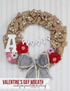 Valentine's Day Wreath | landeelu.com