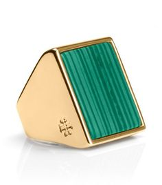 Tory Burch Flat Stone Ring || How 'bout this ring?!