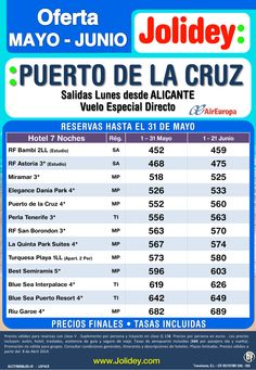 Oferta Mayo - Junio - Puerto de la Cruz desde 452€ Tax incl. Salidas desde Alc ultimo minuto - http://zocotours.com/oferta-mayo-junio-puerto-de-la-cruz-desde-452e-tax-incl-salidas-desde-alc-ultimo-minuto/