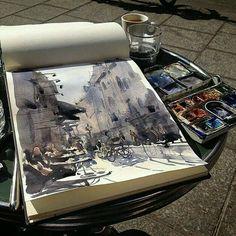 Art Sketches, Art Drawings, Arte Peculiar, Art Hoe Aesthetic, Atelier D Art, Arte Sketchbook, Wow Art, Oeuvre D'art, Art Inspo
