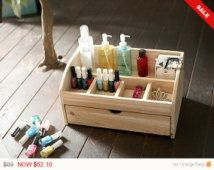 Valentine's day sale 10% OFF Incense cedar wooded beauty makeup organizer station Display Case large size